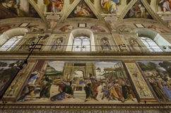 Sistine kapell i Vaticanen Royaltyfri Fotografi