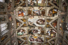 Sistine kapell, Vaticanen Arkivbild