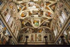 Sistine kapell, Vaticanen Royaltyfri Bild
