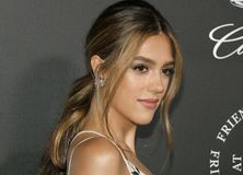 Sistine Stallone. At the Art Of Elysium`s 11th Annual Heaven Celebration held at the Barker Hangar in Santa Monica, USA on January 6, 2018 Royalty Free Stock Images