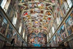 Sistinekapel van het museum van Vatikaan stock afbeelding