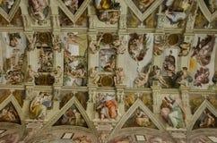 Sistinekapel in Vatikaan Royalty-vrije Stock Afbeeldingen