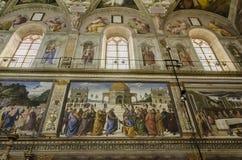 Sistinekapel in Vatikaan Stock Afbeeldingen