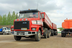 Sisu SR300 8x2 Heavy Duty Truck Stock Images