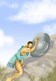 sisyphus μύθου Διανυσματική απεικόνιση