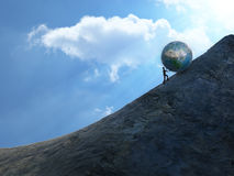Sisyphus royalty free stock photography