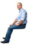 Sit caucasian man Royalty Free Stock Images
