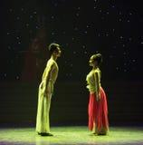 Sit che si affronta nella danza popolare silenzio-bella di Re-cinese della scimmia Immagini Stock Libere da Diritti