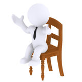 Sit down. High Class rendered figure for perfect message transportation Royalty Free Stock Photo