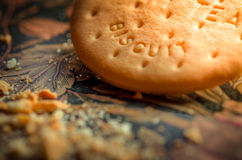 Sit down and relax. Have a cup of tea and a biscuit Royalty Free Stock Photos