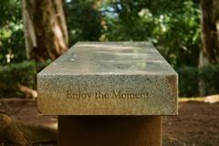 Sit and enjoy the moment stock photography