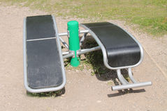 Sit Up Bench Equipment. Royalty Free Stock Images