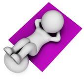Sit Ups Shows Get Fit och buk- tolkning 3d vektor illustrationer
