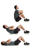 Sit ups Stock Image