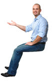 Sit white man Stock Photo