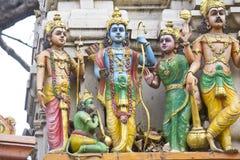 Sita、Rama、拉克什曼和Hanuman 库存照片