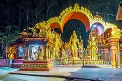 Sita Temple in den Abendlichtern Lizenzfreies Stockfoto
