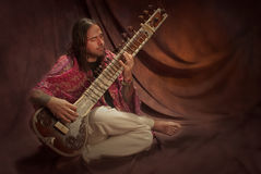 Sitar player Royalty Free Stock Photography