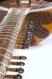 Sitar, a string Indian Traditional instrument, close-up Royalty Free Stock Photo