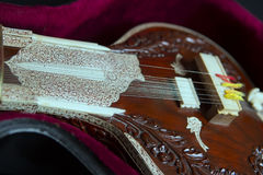 Sitar, a String Traditional Indian Musical Instrument Stock Photo