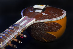 Sitar, a String Traditional Indian Musical Instrument Royalty Free Stock Photo