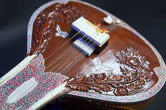 Sitar, a String Traditional Indian Musical Instrument Stock Photos