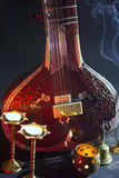 Sitar, a String Traditional Indian Musical Instrument Royalty Free Stock Images