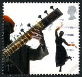 Sitar UK Postage Stamp Stock Images