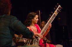 Sitarist Anoushka Shankar Στοκ φωτογραφία με δικαίωμα ελεύθερης χρήσης