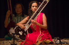 Sitarist Anoushka Shankar Στοκ Εικόνες