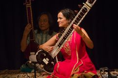 Sitarist Anoushka Shankar Στοκ Φωτογραφίες