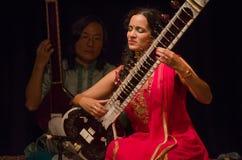 Sitarist Anoushka Shankar Arkivbild