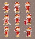 Sitckers van de brandweerman Royalty-vrije Stock Afbeelding