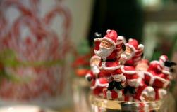 Sitcks del swizzle de Papá Noel Imagenes de archivo
