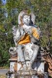Sitdown di pietra di Buddha Fotografia Stock