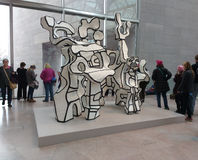 `Site à l`homme assis` by Jean Dubuffet, National Gallery of Art East Building, Women`s March, Washington, DC, USA Royalty Free Stock Photos