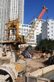 The site. The construction site in hongkong royalty free stock image