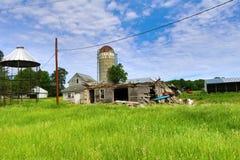 Site abandonné de ferme Image stock