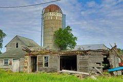 Site abandonné de ferme Image libre de droits