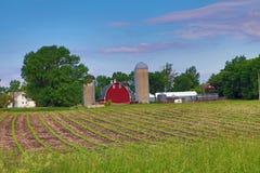 Site abandonné de ferme Photo stock