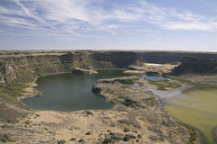 Site of ancient waterfall, Sun Lakes Dry Falls State Park, Washi Stock Photos