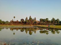 site of angkor wat complex in cambodia royalty free stock photo