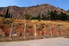 Site antique de Delphes, Grèce photo stock