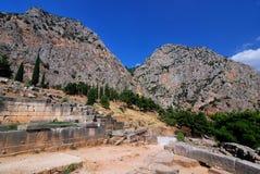Site antique de Delphes, Grèce image stock