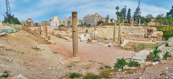Site archéologique à l'Alexandrie, Egypte photos libres de droits