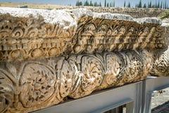 Site archéologique Capernaum, mer de la Galilée en Israël Image libre de droits