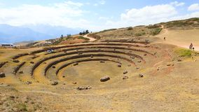 Site archéologique Cuzco Pérou de Moray clips vidéos
