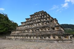 Site archéologique d'EL Tajin, Veracruz, Mexique Image stock