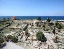 Site archéologique de Byblos, Liban Image libre de droits