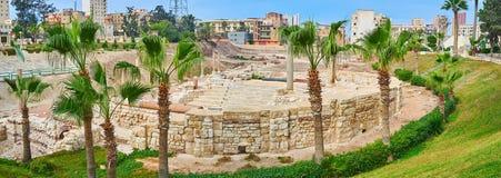 Site archéologique de Dikka d'annonce de Kom, l'Alexandrie, Egypte photos stock
